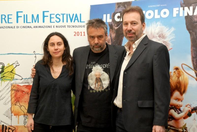 FFF 2011: Luc Besson accanto a Giulietta Fara e Oscar Cosulich, presenta Arthur 3 - La guerra dei due mondi