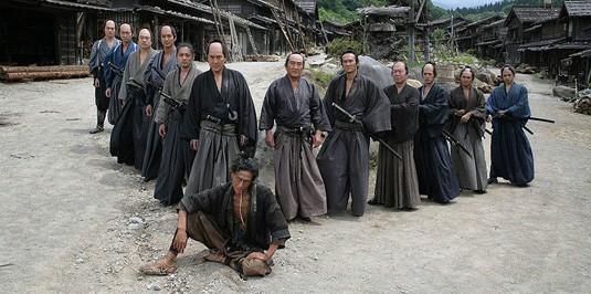 Samurai in posa per il film 13 Assassini