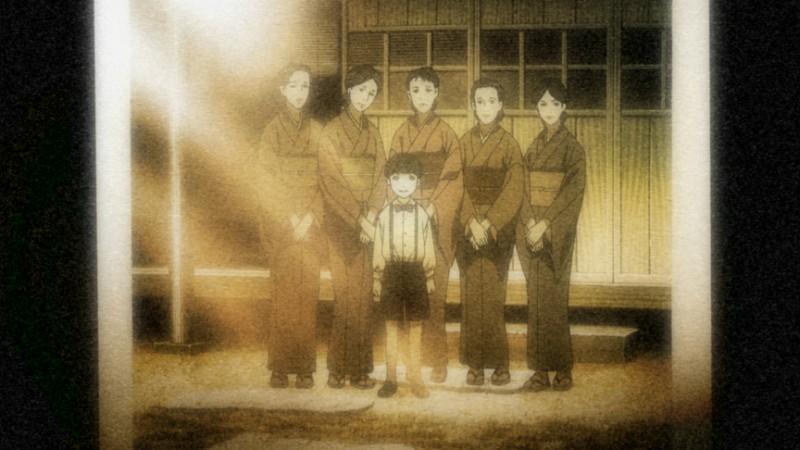 Un'immagine dall'anime No Longer Human (2009)