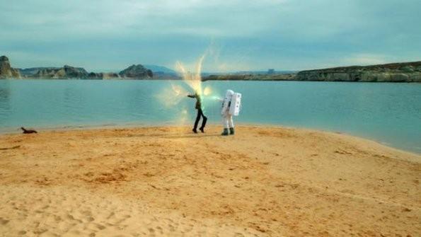 Una scena dell'episodio The Impossible Astronaut di Doctor Who