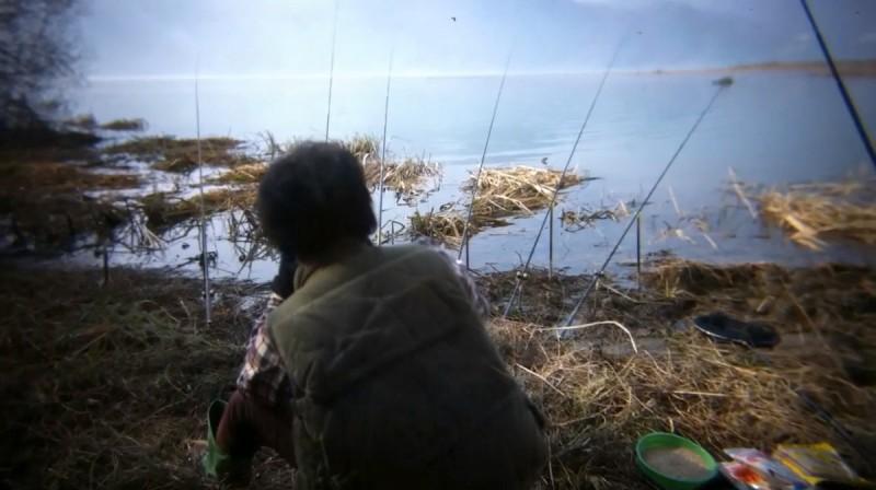 Una scena del film Night Fishing