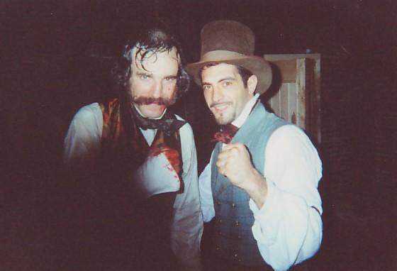 Daniel Day Lewis e Mauro Aversano sul set di Gangs of New York