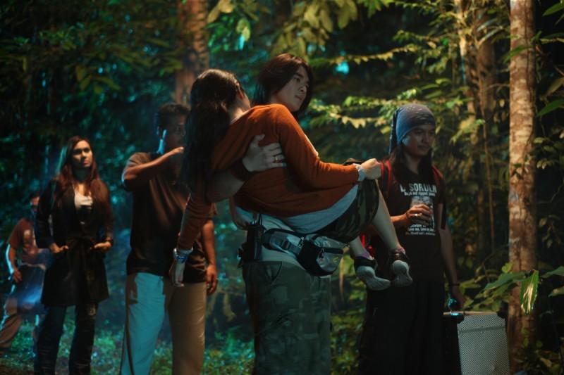 Una scena del film horror Seru