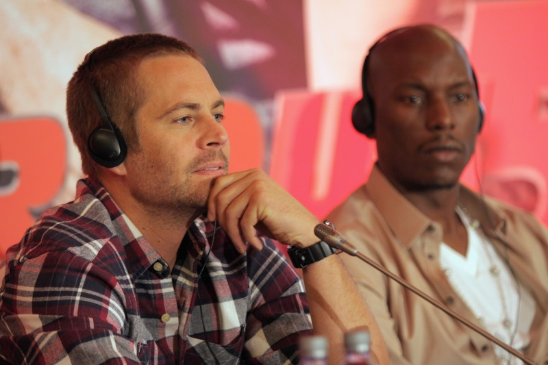 Paul Walker presenta il film Fast & Furious 5 a Roma, insieme a Tyrese Gibson