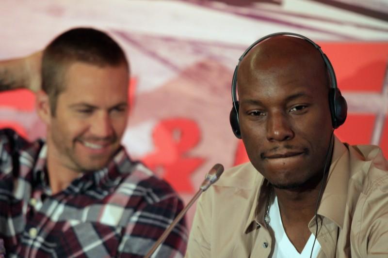 Paul Walker presenta il film Fast & Furious 5 insieme a Tyrese Gibson