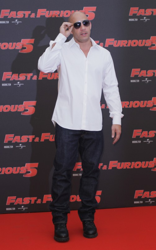 Vin Diesel a Roma, durante il photocall  di Fast & Furious 5
