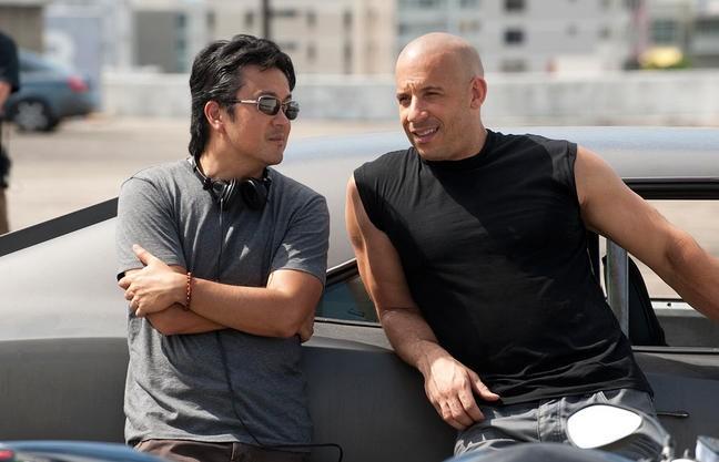 Vin Diesel con Justin Lin sul set di Fast & Furious 5