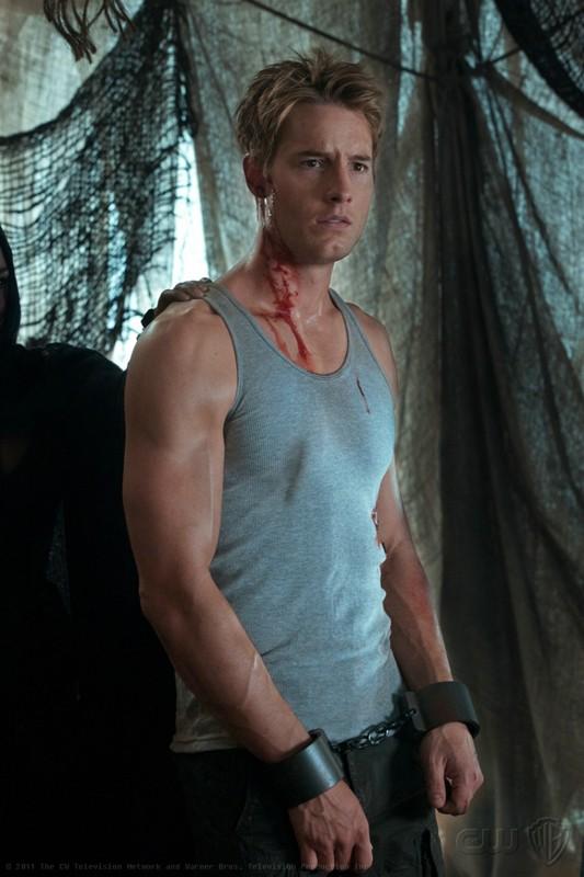 Oliver (Justin Hartley) in una scena dell'episodio Dominion di Smallville