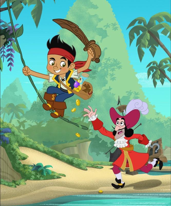 Jake e Capitan Uncino nella serie animata Jake e i Pirati dell'Isola che non c'è