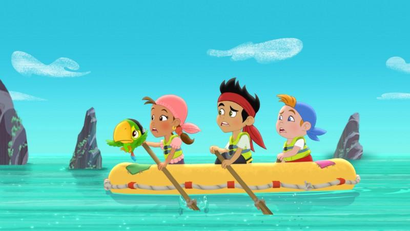 Una vivace immagine della serie animata Jake e i Pirati dell'Isola che non c'è