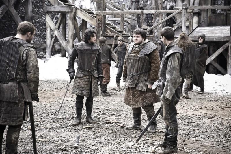 Una scena dell'episodio Lord Snow di Game of Thrones