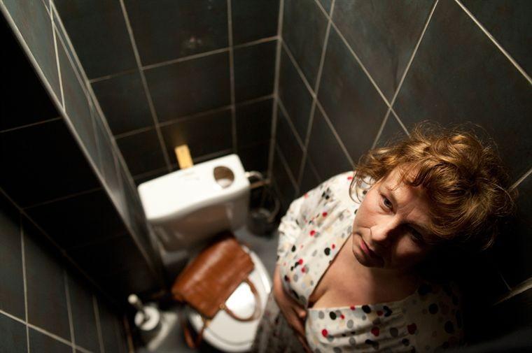 Yolande Moreau in una particolare inquadratura del film Où va la nuit