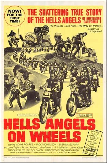 La locandina di Angeli dell'inferno sulle ruote
