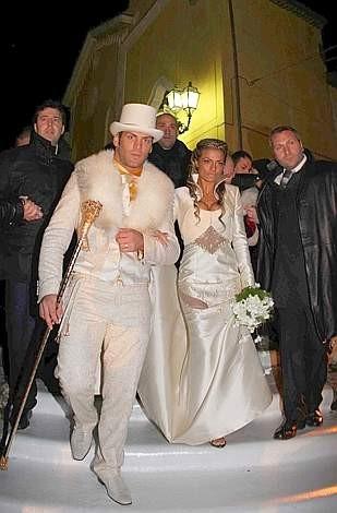 Clemente Russo nel giorno del suo matrimonio con Laura Maddaloni