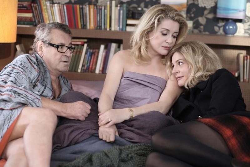 Catherine Deneuve tra Milos Forman e Chiara Mastroianni nel film Les bien-aimés