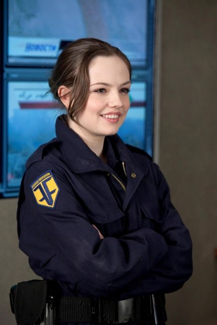 Emily Meade nell'episodio The Day We Died di Fringe
