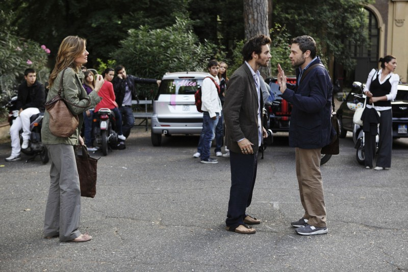 Massimo Poggio con Christiane Filangieri e Giorgio Marchesi ne I liceali 3