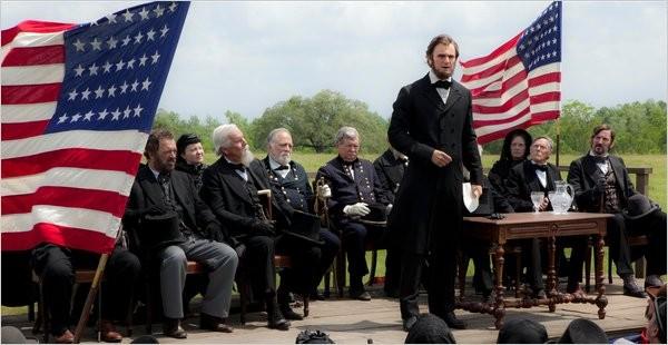 Prima immagine di Abraham Lincoln: Vampire Hunter. Al centro Benjamin Walker