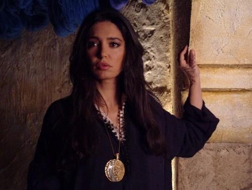 Emanuela Garuccio, protagonista femminile del film Il mercante di stoffe