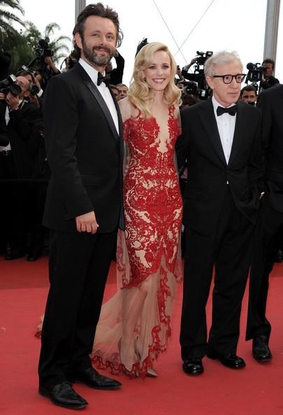 Cannes 2010: Rachel McAdams sul tappeto rosso tra Michael Sheen e Woody Allen, autore di Midnight in Paris