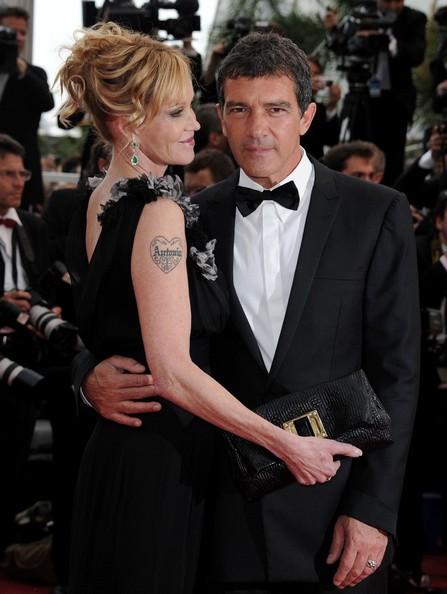 Cannes 2011, serata inaugurale: Antonio Banderas insieme a Melanie Griffith sul red carpet