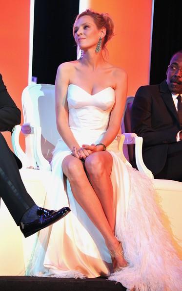 Festival di Cannes 2011: Uma Thurman durante la serata inaugurale
