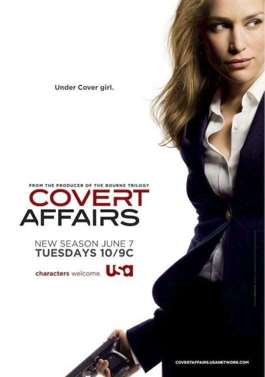 Un poster della stagione 2 di Covert Affairs
