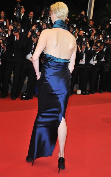 Cannes 2011: una elegantissima Tilda Swinton protagonista di We Need To Talk About Kevin, sul red carpet
