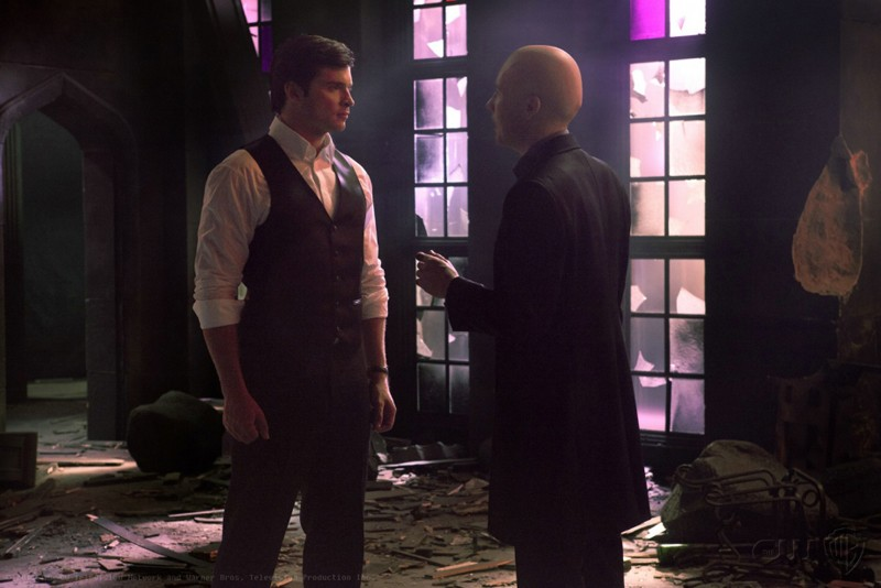 Clark (Tom Welling) e Lex (Michael Rosenbaum) nell'episodio Finale di Smallville