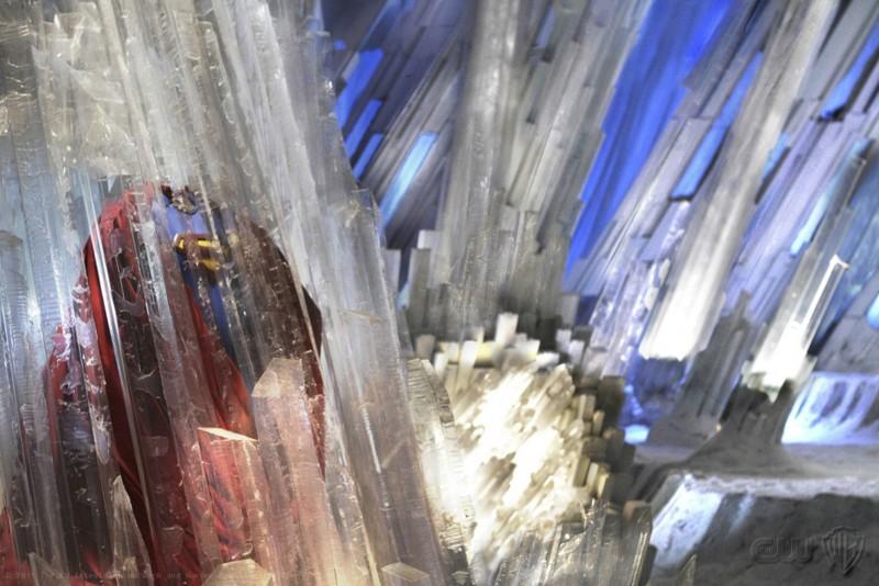 La tuta di Superman nella Fortezza di Ghiaccio nell'episodio Prophecy di Smallville