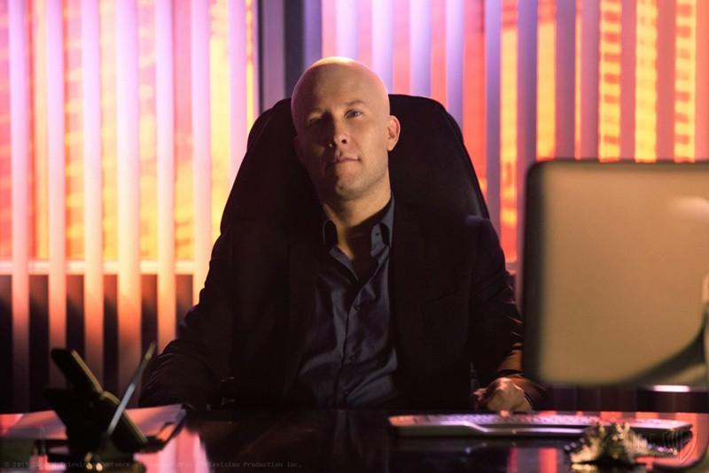 Lex Luthor (Michael Rosenbaum) nell'episodio Finale di Smallville