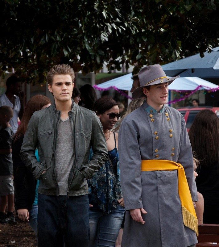 Paul Wesley in una scena dell'episodio As I Lay Dying di Vampire Diaries