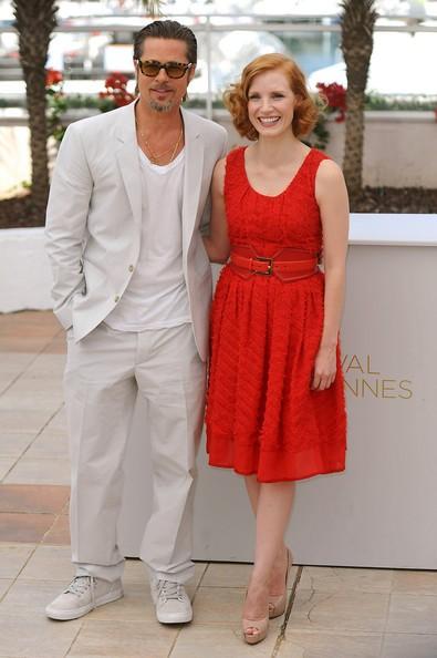 Cannes 2011: Brad Pitt e Jessica Chastain, presentano The Tree of Life