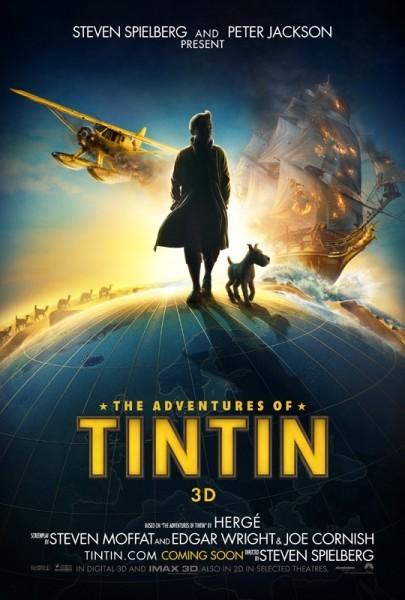La locandina di Le Avventure di Tintin: il Segreto del Liocorno