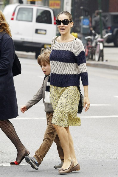 Sarah Jessica Parker prende il figlio James da scuola nel West Village