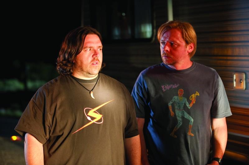 Nick Frost  e Simon Pegg, protagonisti della commedia Paul