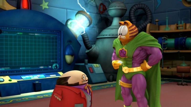 Il professor Wally con Garzooka nel film Garfield il supergatto