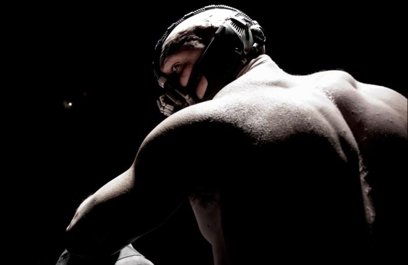 Tom Hardy è Bane in The Dark Knight Rises