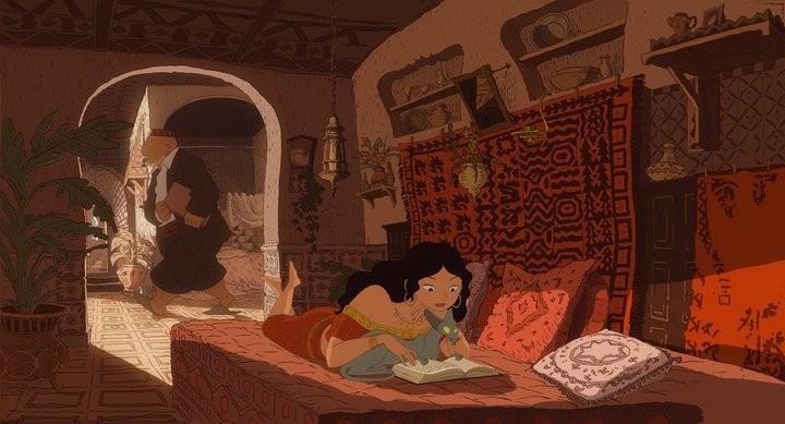 Zlabya in una scena de Le chat du rabbin