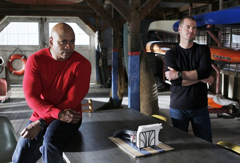 LL Cool J, Chris O'Donnell in una scena dell'episodio Plan B di NCIS: Los Angeles