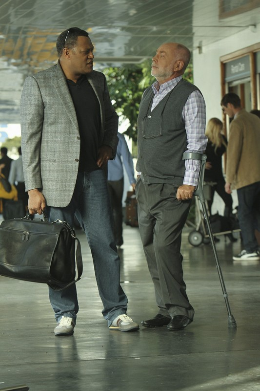 Langston (Laurence Fishburne) e Robbins (Robert David Hall) in: Cello And Goodbye di CSI: Scena del crimine