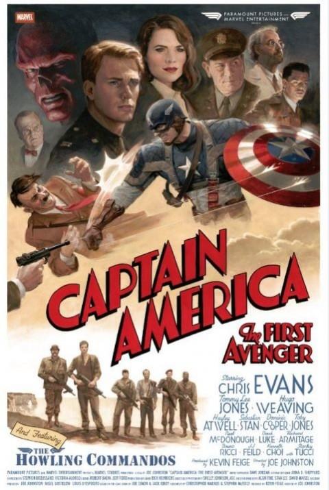 Nuovo poster retrò per Captain America: il primo vendicatore