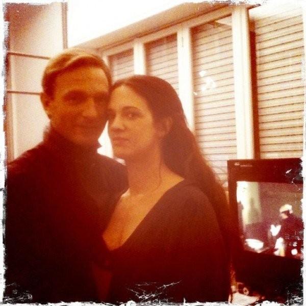 Asia Argento e Thomas Kretschmann sul set di Dracula 3D