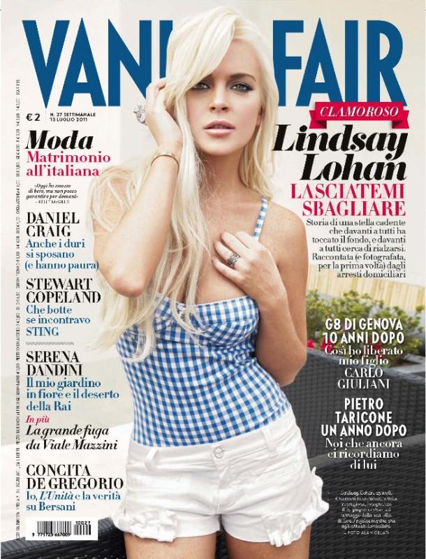 Lindsay Lohan sulla cover di Vanity Fair Italia, luglio 2011