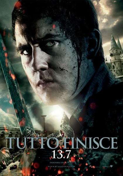 Character poster italiano di Harry Potter e i doni della morte - parte 2 dedicato a Neville