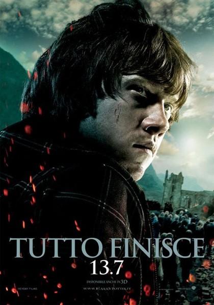 Character poster italiano di Harry Potter e i doni della morte - parte 2 dedicato a Ron