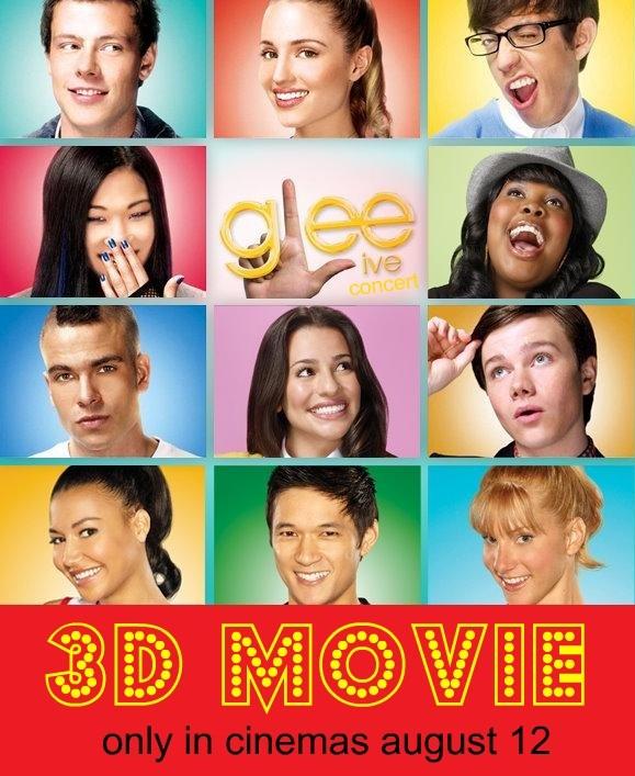 La locandina di Glee Live! 3D!