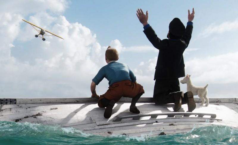 Una scena del film d'animazione Le Avventure di Tintin: il Segreto del Liocorno (2011)