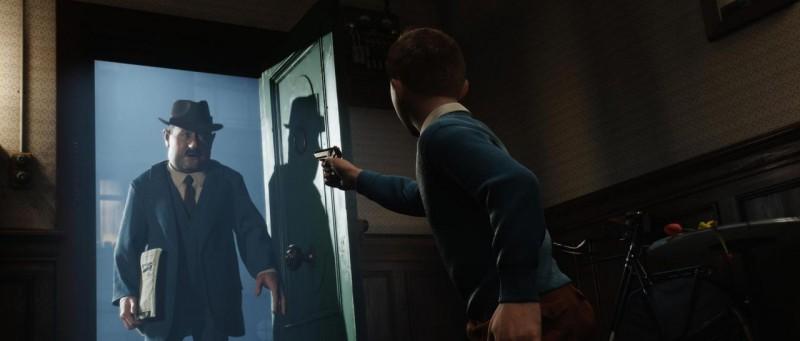 Una sequenza del film d'animazione Le Avventure di Tintin: il Segreto del Liocorno