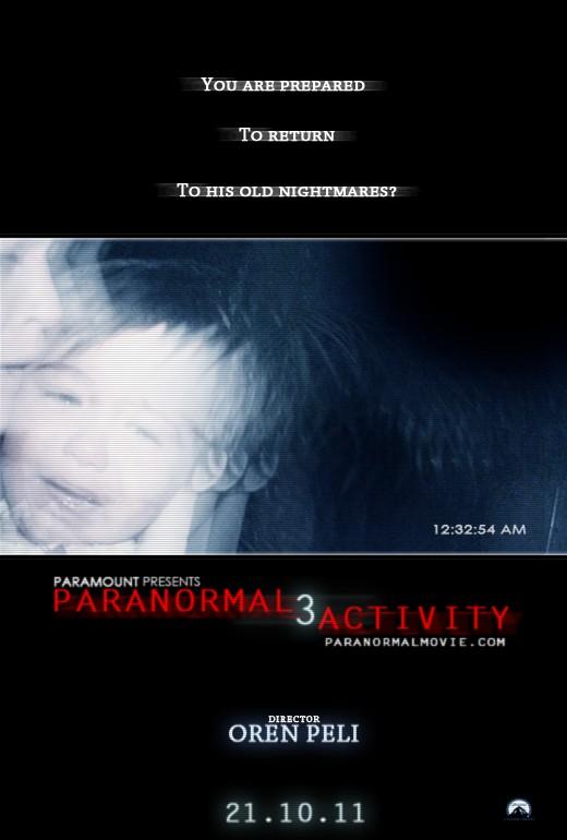La locandina di Paranormal Activity 3